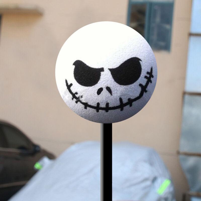 1x New Halloween Skull EVA Antenna Topper Aerial Ball Toy White Decoration