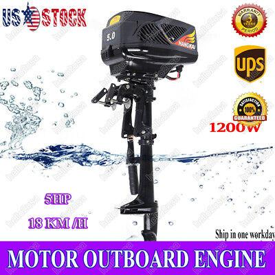 HANGKAI 5HP 48V Electric Outboard Trolling Motor 1200W Fishing Boat Engine