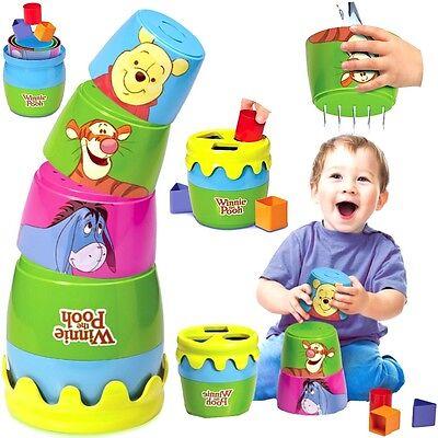 Baby Spielzeug Tomy Winnie Puuh Pooh Badespielzeug Stapelspielzeug Motorik neu