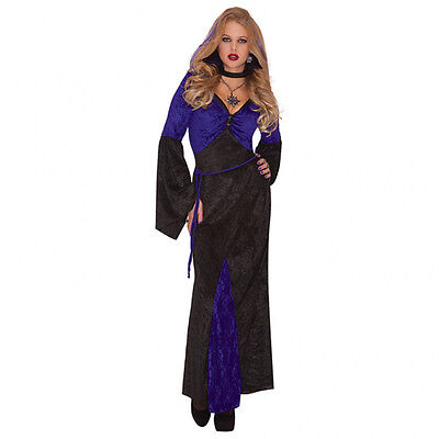 Donna Vampiro Vestito Costume Halloween Mistress Of Seduzione UK 14-16