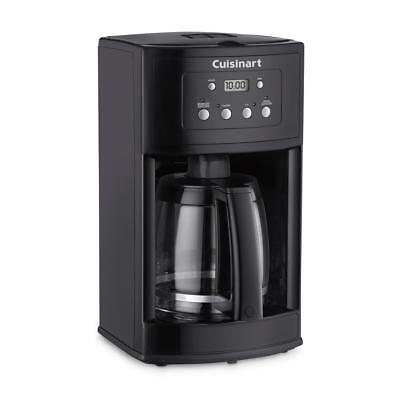 Black Coffee Maker 12-Cup Programmable Self Cleaning Machine With Glass Carafe