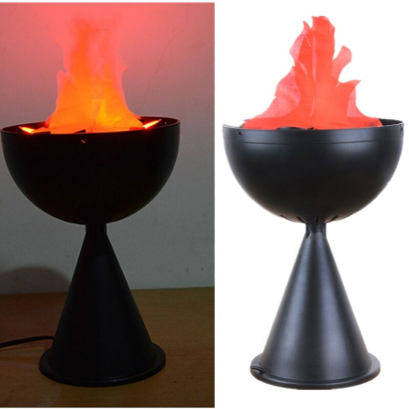 LED Flame 3 D Fake Fire Lamp Torch Light Campfire Centerpiece Party Decoration