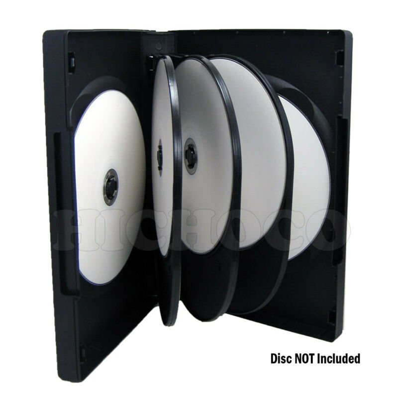60 ct Multi 8 Disc CD DVD Black Case Movie Game Box 27mm Wholesale Bulk