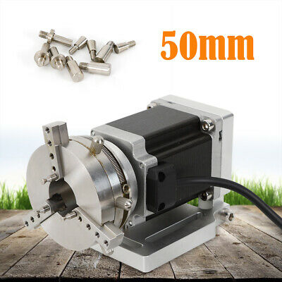 3 Axis 3-jaw Lathe Chuck 50mm Motor For Cnc Router Milling Machine Rotary Axis