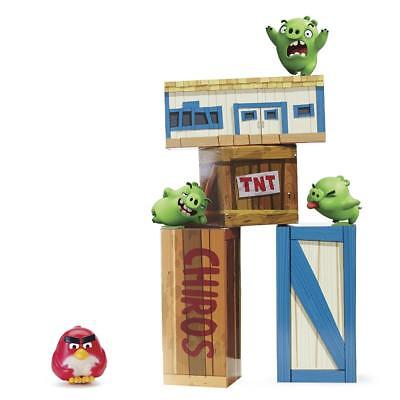 Angry Birds Vinyl Knockout box Pig City Playset Birthday Party Game toy Gift