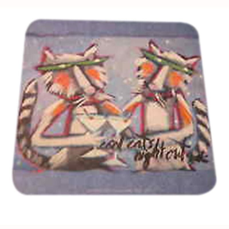 8 Absorbent Drink Coasters The Party Dogs And Cats - Cats Nigh Out