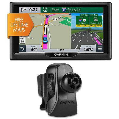 "Garmin nuvi 67LM 6"" Essential Series 2015 GPS System w Lifetime Maps Vent Bundle"