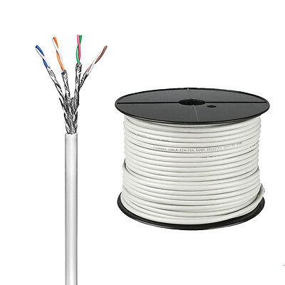 100m CAT6 S/FTP Netzwerkkabel Patchkabel Verlegekabel LAN Kabel Gigabit 93953