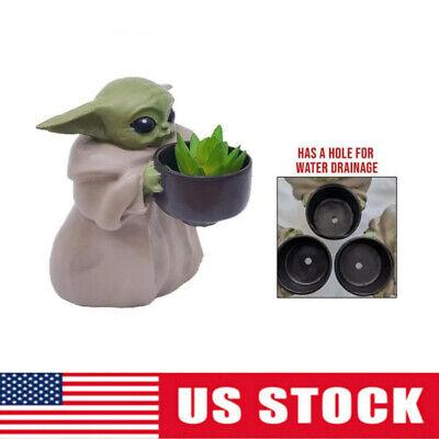 Baby Yoda Planter Pot Figure Baby Yoda Planter Desk Figure Star Wars Kids Gift