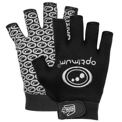 OPTIMUM STIK MITS Rugby Gloves - Black & White SIZE SMALL NEW FREE UK PP