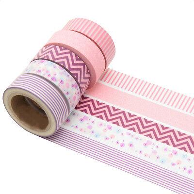 5 Rollen je 10m Washi Masking Tape Basteln Klebeband  Reispapier 0,22 Eur/m 6223