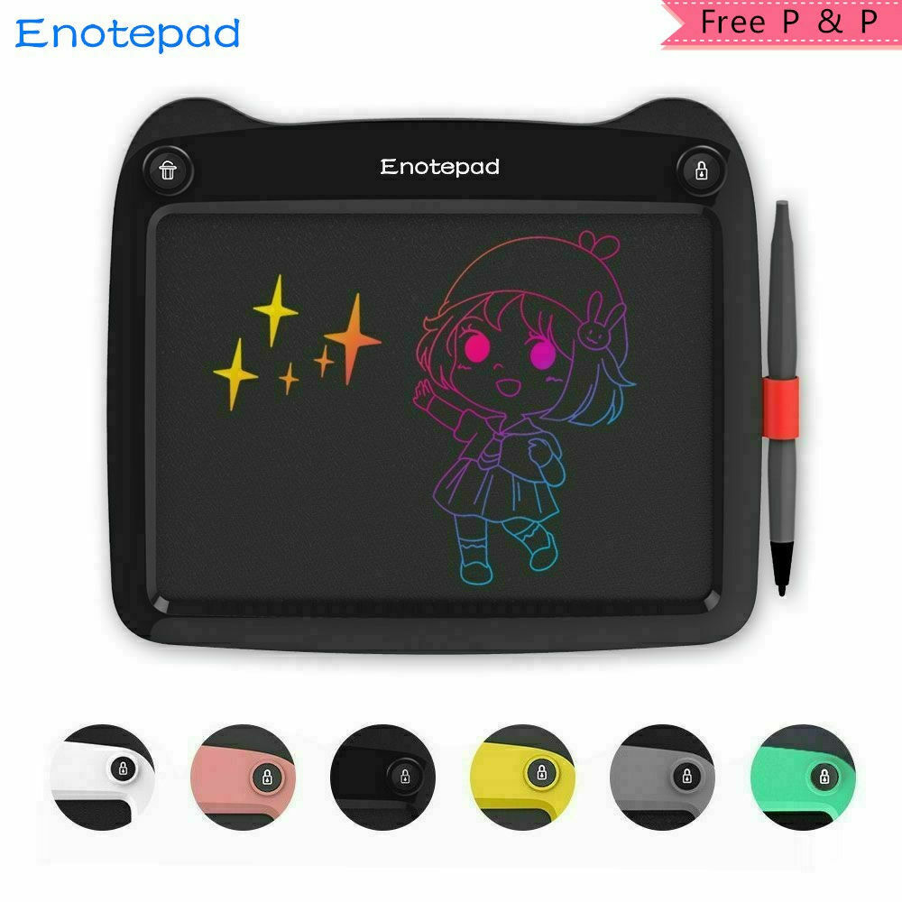 Enotepad 9'' LCD Writing Tablet Drawing Board For Kids Color
