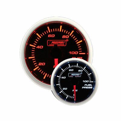 Prosport 52mm Electric Fuel Pressure Gauge w/ Sender (Amber / White)