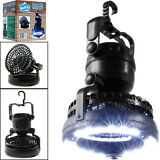 2-in-1 18 LED Camping Light and Ceiling Fan Outdoor Hiking Flashlight
