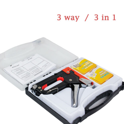 3 In 1 Manual Staple Gun Powerful Wood Work Tool Stapler Tac