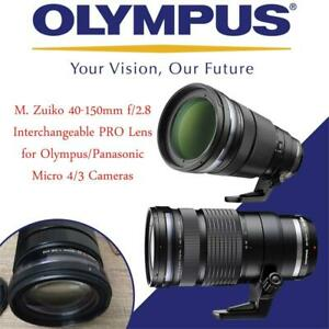NEW Olympus M. Zuiko 40-150mm f/2.8 Interchangeable PRO Lens for Olympus/Panasonic Micro 4/3 Cameras Condtion: New