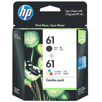 RETAIL BOX Expires 2018 Hp 61 Genuine Black+Color ink set HP61 Combo