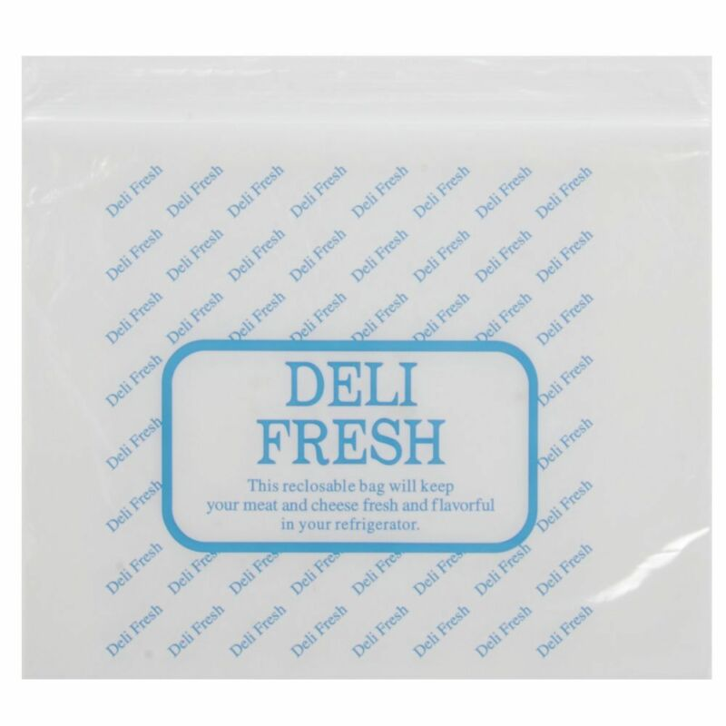 Reclosable Deli Bags Saddle Style 1.25 mil HDPE Plastic Clear Imprinted - 10