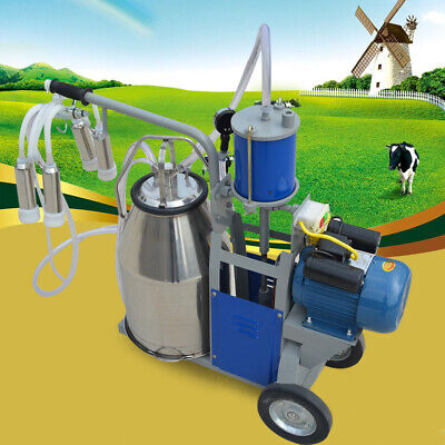 25l Electric Milking Machine For Goats Cows Wbucket Sheep Piston 1440rpm