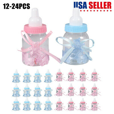 24 Fillable Baby Shower Candy Bottle Favors Blue Pink Party Decorations Girl Boy](Baby Boy Shower Candy)