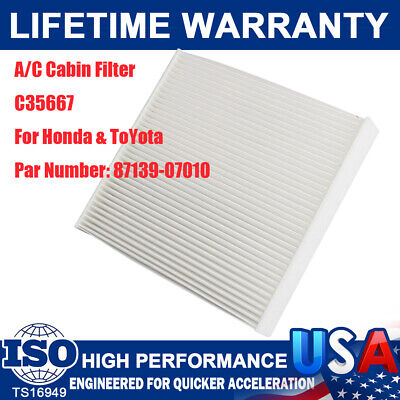 C35667 AC CABIN AIR FILTER For SCION TOYOTA AVALON COROLLA CAMRY HIGHLANDER