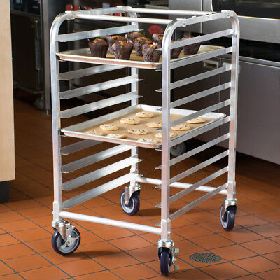 10 Pan End Load Half Height Bakery Bun Dough Baking Sheet Pan Rack Commercial