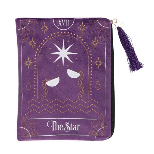 * Zippered Tarot Bag Purple The Star Large Tarot Bag Wiccan Pagan Witch