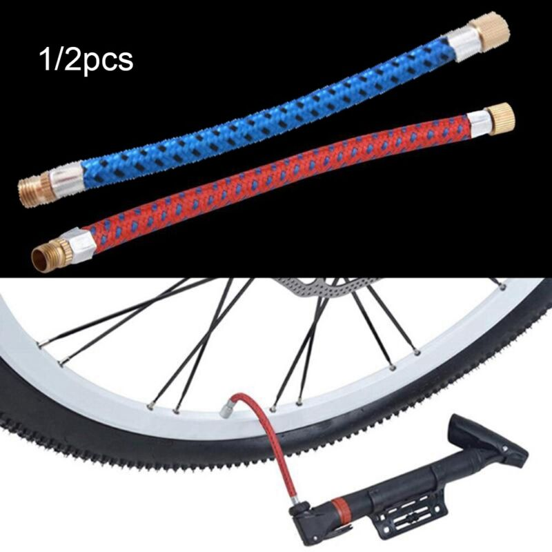 Portable Tube Pipe Cord Bicycle Pumps Bike Hose Adapter Pump Extension Hose