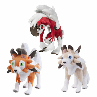 Pokemon Center Lycanroc Dusk & Midday Form Rock Plush Doll Figure Soft Toy Gift - Rock Toys