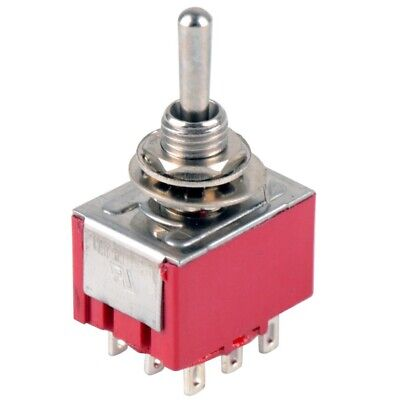 9-pin -position On-on Mini Metal Toggle Switch Ac 6a125v 3a250v Spdt 14