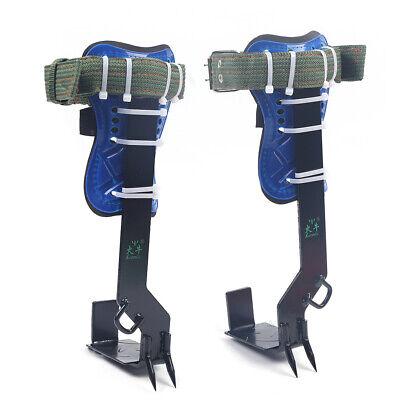 Two-gear Treepole Climbing Spike Safety Belt Strap Lanyard Carabiner Rope Steel