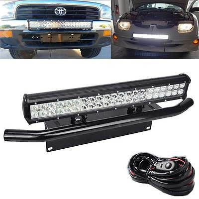 Toyota hilux bar 1 fit toyota 4runner tacoma 126w led light bull bar bumper license plate bracket mozeypictures Gallery