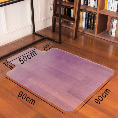 frosted non slip office chair desk mat floor carpet protector pvc plastic new ebay. Black Bedroom Furniture Sets. Home Design Ideas