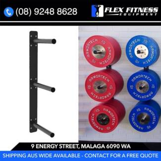 Wall Mounted Bumper or Plate Rack Brand New | Gym & Fitness ...