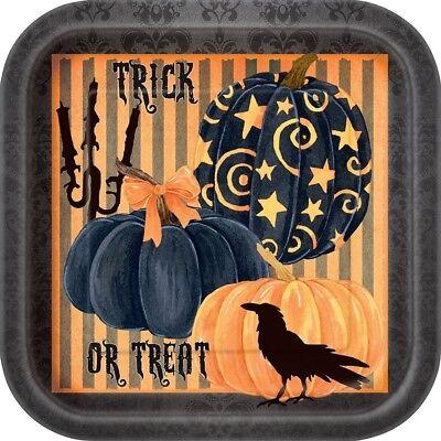 Zubehör Party Halloween, 8 Geschirr in Papier Krähe 23 cm Ps 00361