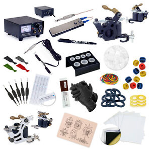 Complete Tattoo Starter Kit 2 Guns Supply Set Equipment