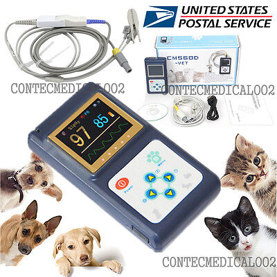 Veterinary Pulse Oximeter Handheld Spo2 Pr Monitor Vet Tongue Probesoftwareusa