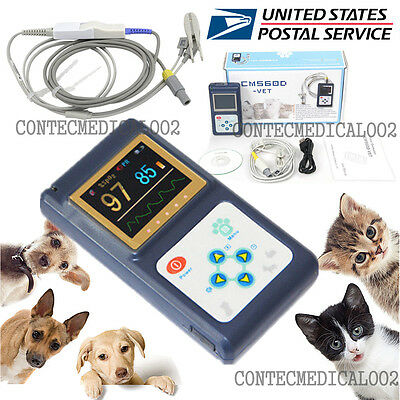 Veterinary Pulse Oximeter Handheld Spo2 Pr Monitor Vet Tongue Probesoftwareusa