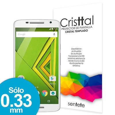 Sentete® Moto X Play Protector de Pantalla de Cristal Templado PREMIUM