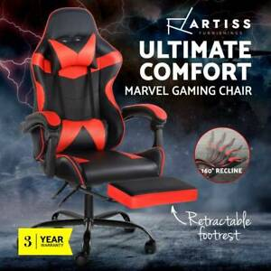 Gaming Office Chair Computer Desk Chairs Seat Racing Recliner Red