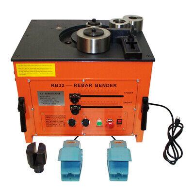 3700 Watt@26A Electric Rebar bender Machine 2 Foot Pedals Bending 1-1/4 inch Cap