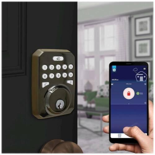 MiLocks - MiEQ Bluetooth/WiFi Push Button Deadbolt Keypad Smart Door Lock Kit