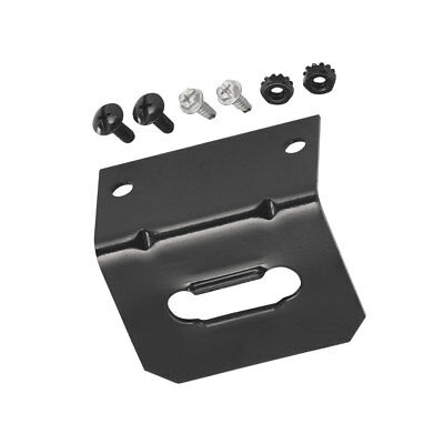 4-Flat Trailer Wiring Mounting Bracket Fits 4-Pole Connectors w/ Self Tap -