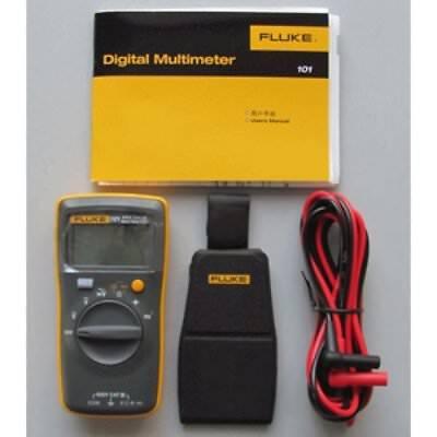 New Fluke 101 Handheld Easy Digital Multimeter Cat Iii 600v With Magnetic Case