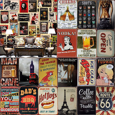 Coffee Bottle Shop Metal Tin Signs Retro Plaque Wall Decor Painting Pub Poster