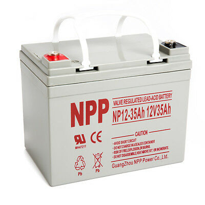 NPP 12V 35Ah U1 Knowing Cycle AGM Solar Battery Also Replaces 33Ah 34Ah 35Ah