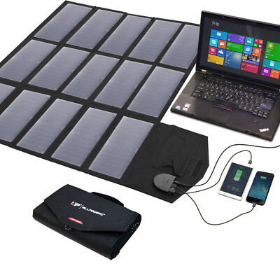 18V 100W Foldable Portable Solar Panel Power Pank USB Battery Charger For Phone