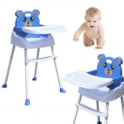 Trona 4 en 1 para bebé Silla comedor ajustable Plegable Con bandeja...