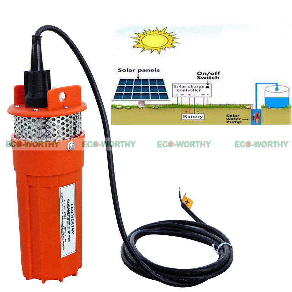 150w 12v Solar Panel 12v Deep Well Submersible Pump For