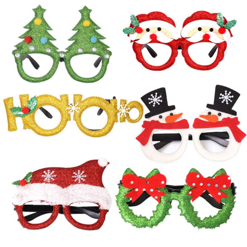 Christmas Party Glasses Santa Snowman Adult Kids Gift Favors